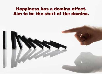 happiness-domino-effect